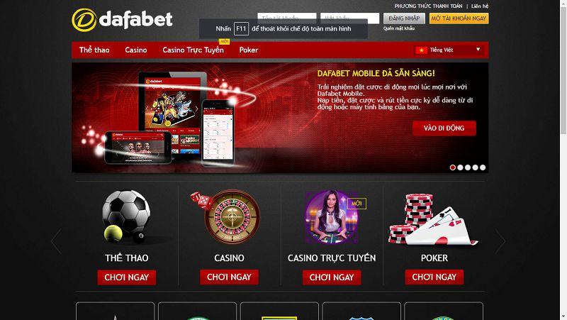Danh mục Casino trực tuyến Dafabet