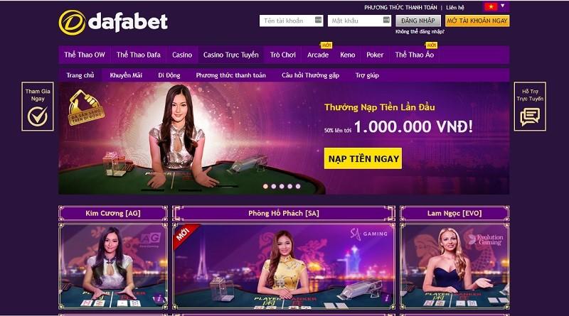 Casino trực tuyến miễn phí cực hấp dẫn tại Dafabet