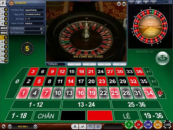 chơi game roulette trực tuyến