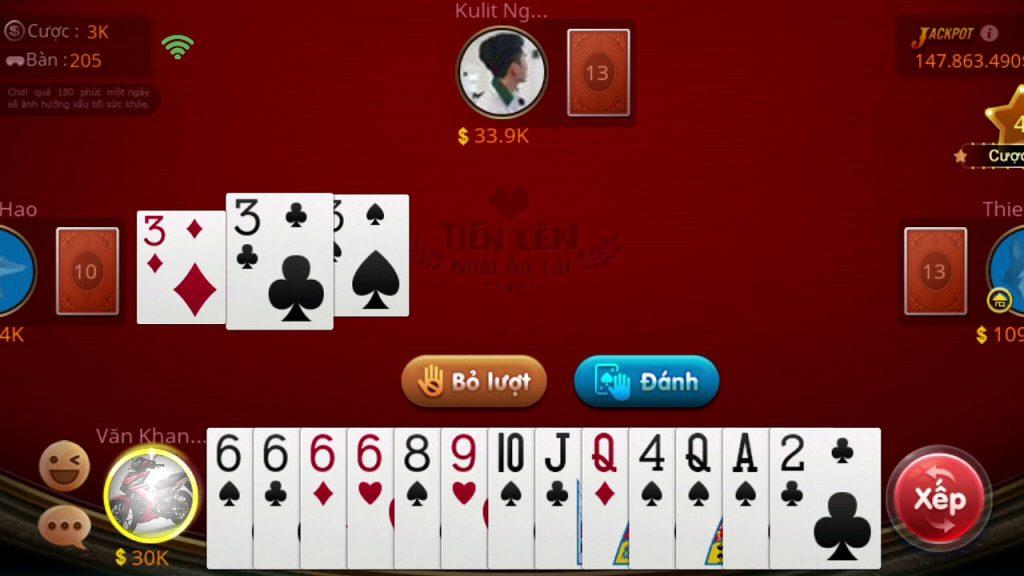 casino chơi tiến lên miền nam online